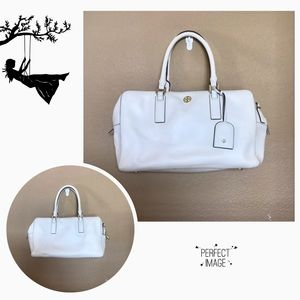 Tory Burch White Satchel Bag